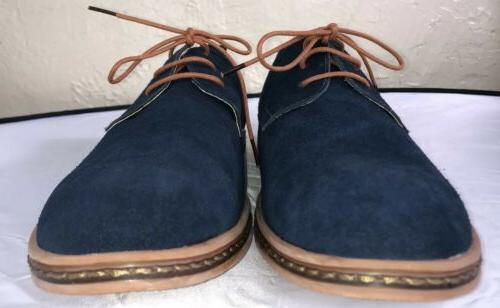 men s classic blue suede leather oxford