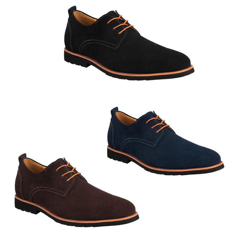 men s classic casual leather suede oxfords