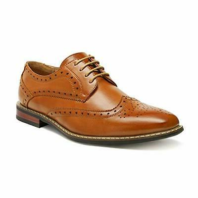 Bruno Marc Mens Formal Leather Classic Lace Up Brogue Dress