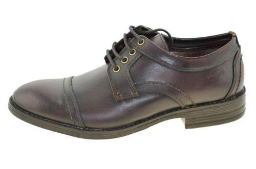 Clarks Men/'s Delsin View Oxfords Burgundy Shoes Style 03536