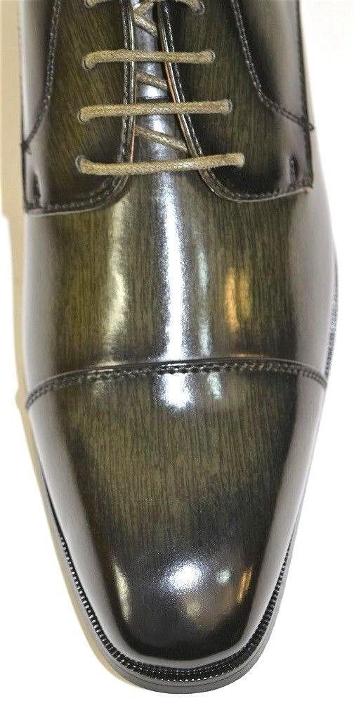 Men's Dress Shoes Cap Toe Green
