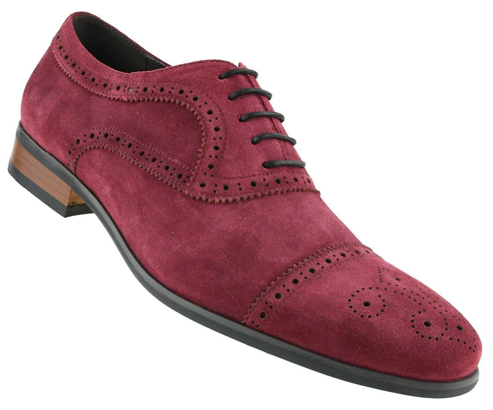 men s dress shoes genuine cow suede