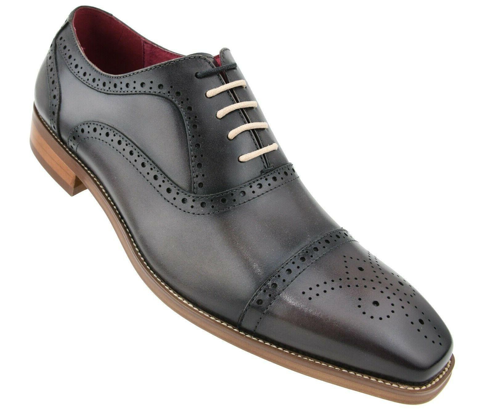 Men's Shoes Genuine Toe Dress Shoes