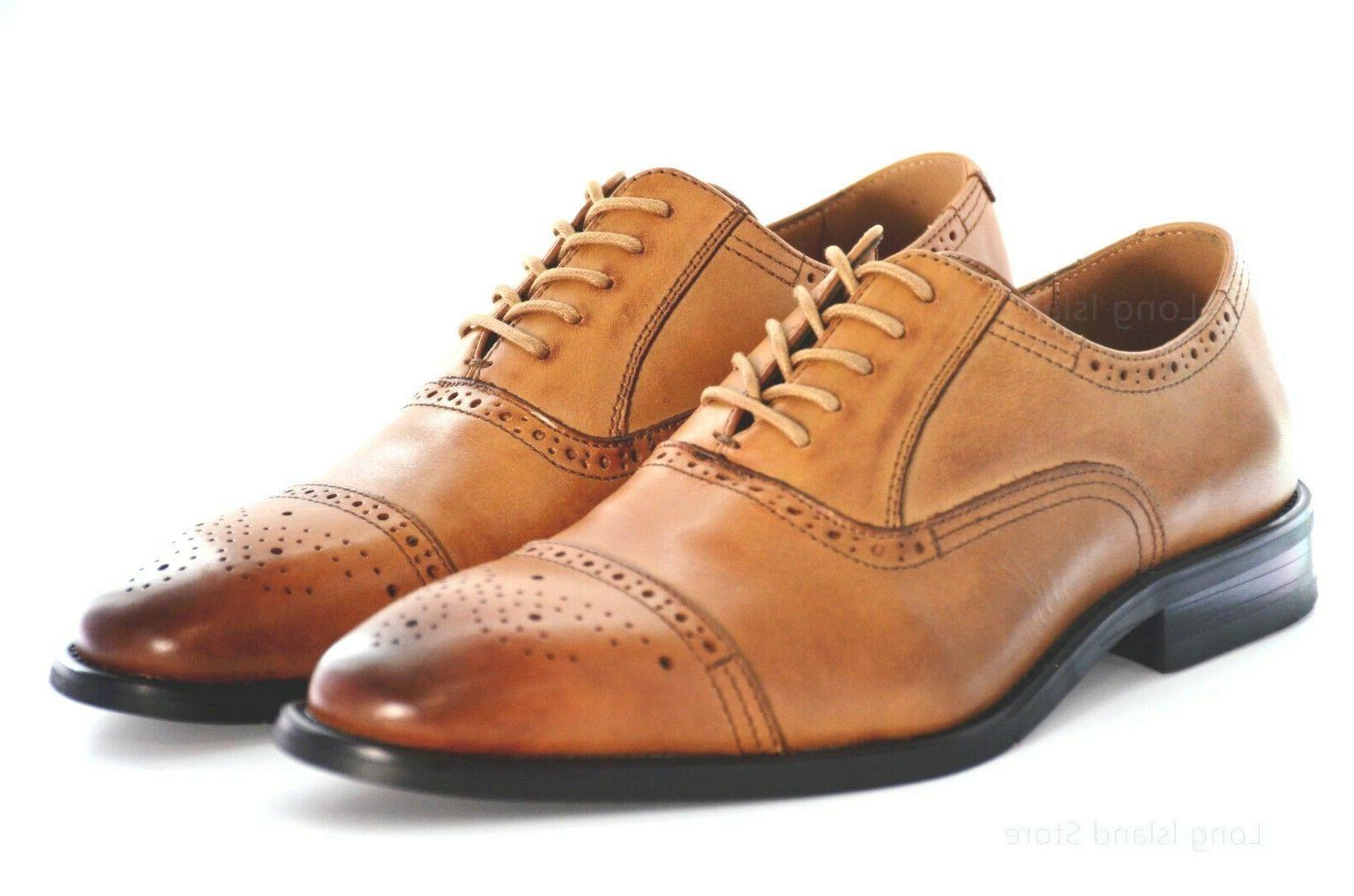 LA MILANO Men's Dress Shoes  Genuine Leather, Oxford Lace Up