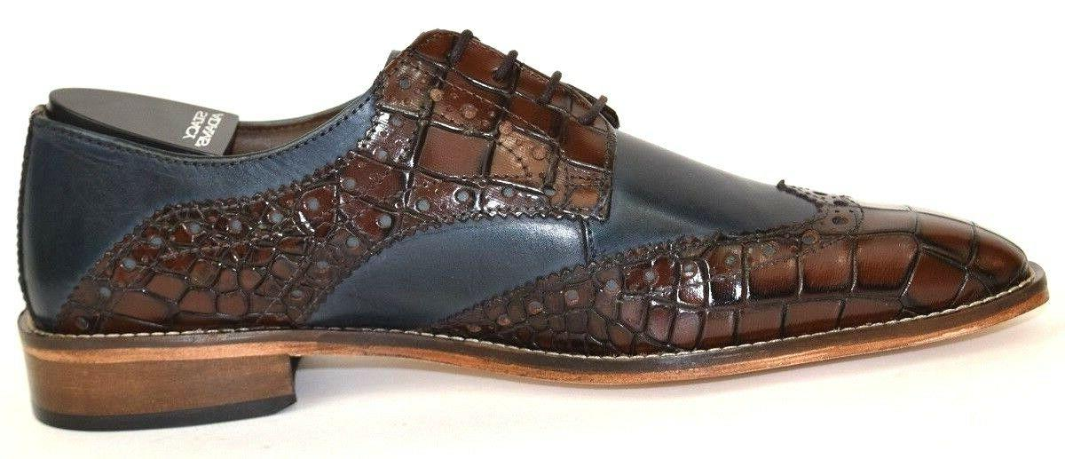 Men's Dress Wing Tip Oxford Leather STACY ADAMS