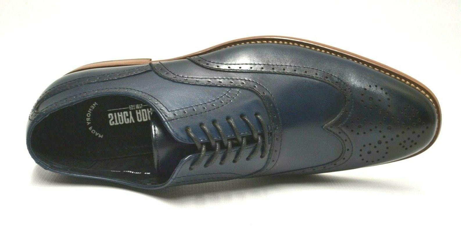 Men's Dunbar Navy Wingtip Shoes