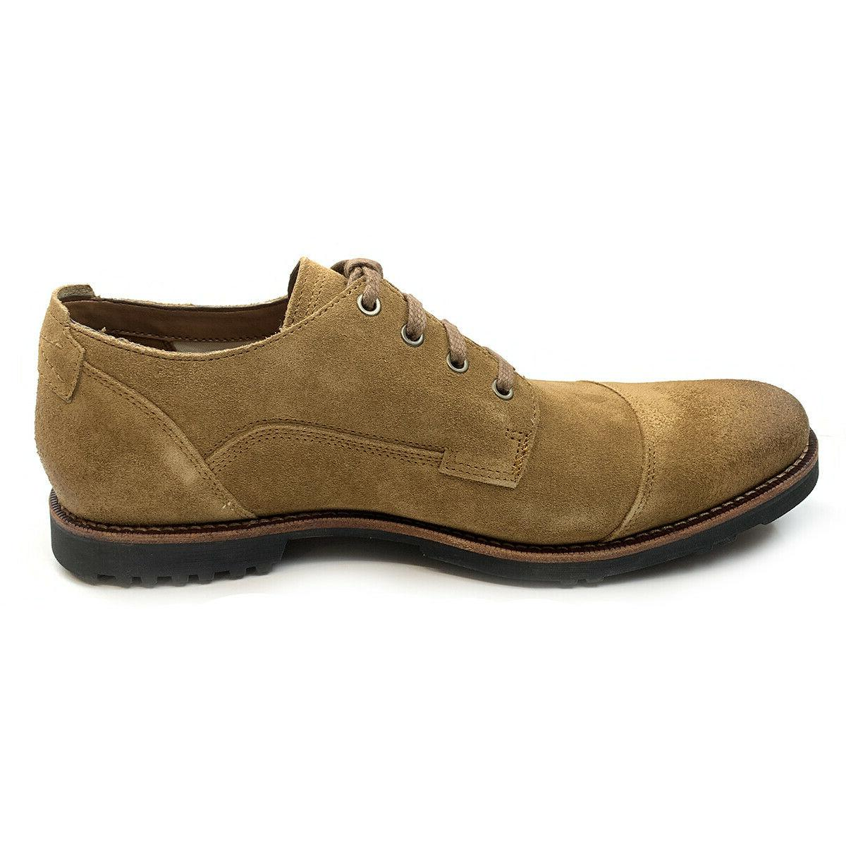 Toe Medium Brown Oxford Shoes