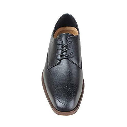 Kunsto Men's Leather Brogue Oxford Modern Classic Lace Up fa