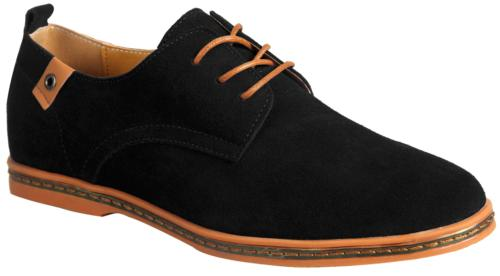 iLoveSIA Men's Leather Suede Oxfords Shoe US Size 9 Black