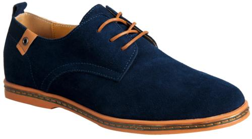 iLoveSIA Men's Leather Suede Oxfords Shoe US Size 10.5 Blue
