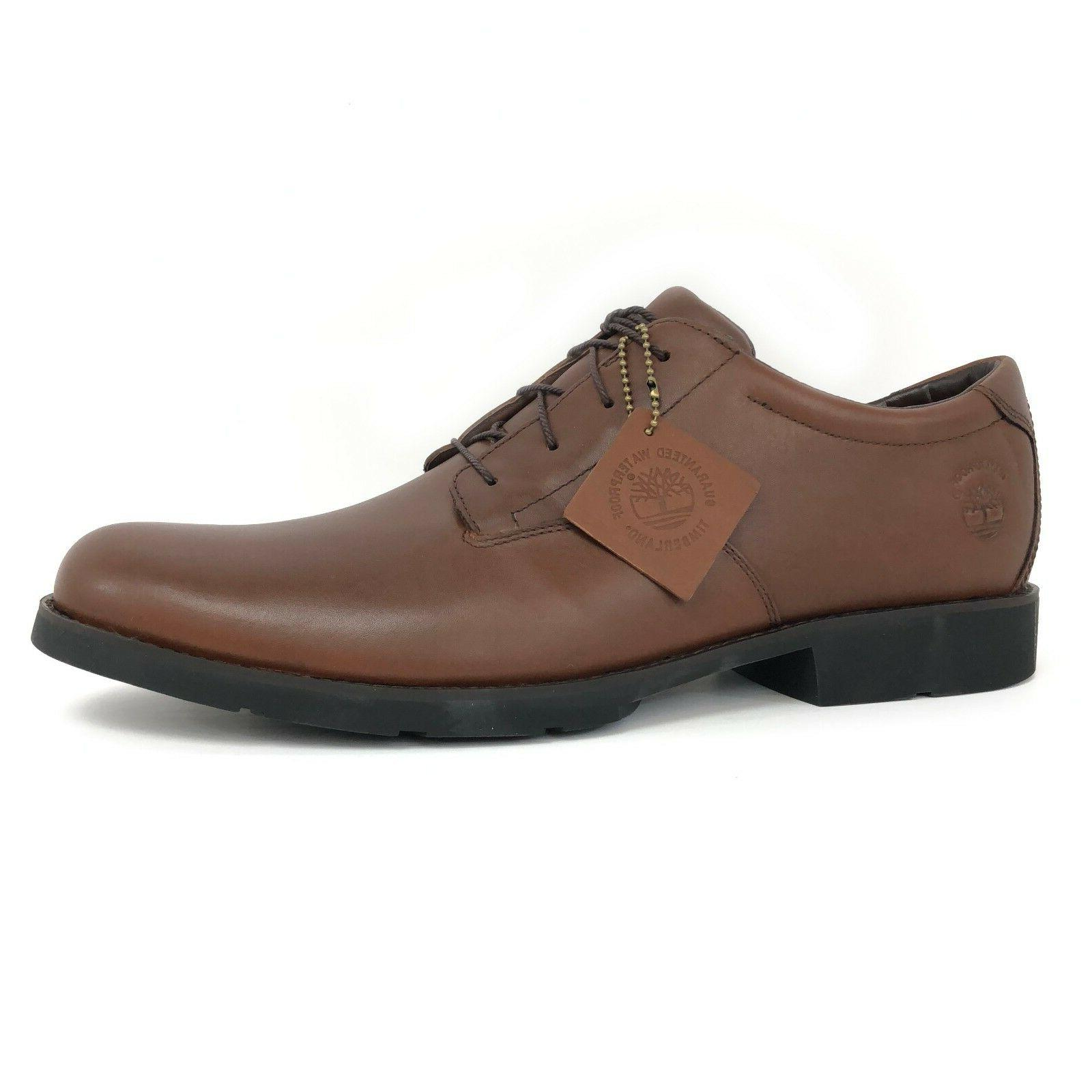 Timberland Men's Metro Weatherbuck Brown Waterproof Oxford S