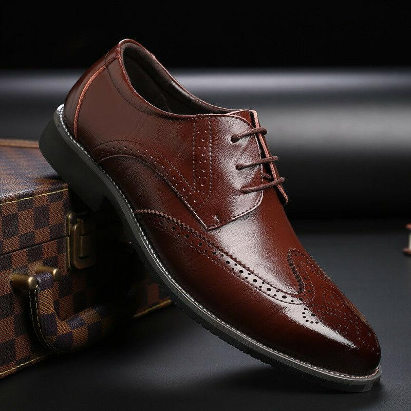 Men's Oxfords Brogue Formal Casual Dress up Shoes