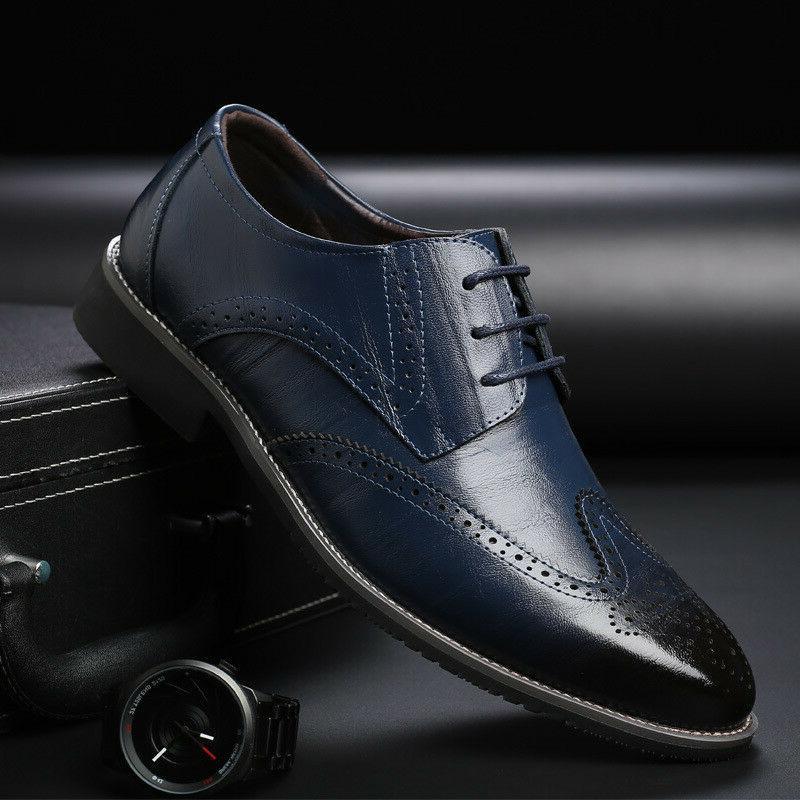 Men's Brogue up Tip Wedding Shoes