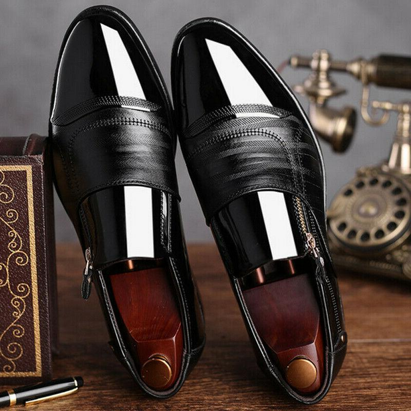 Mens On Formal Shoes Toe Shoes