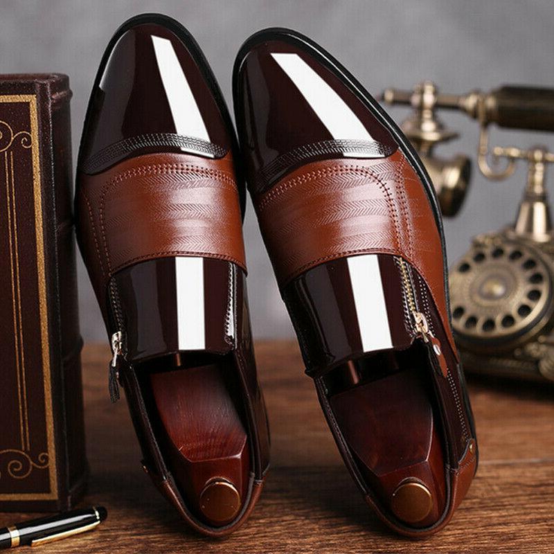Mens Formal Shoes Brogue Toe Oxfords Shoes