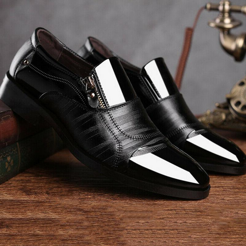 Mens On Formal Shoes Pointed Toe Patent Shoes
