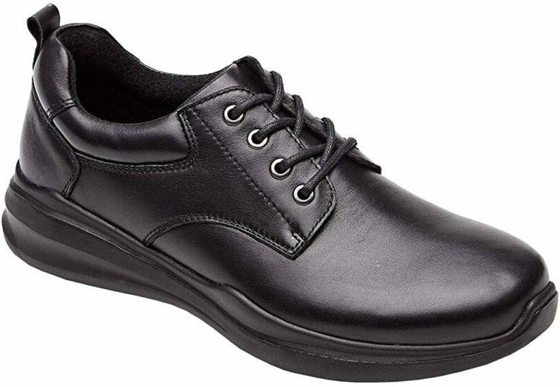 Laoks Men'S Plain Toe Walk Oxford, Casual Dress Shoes, Black