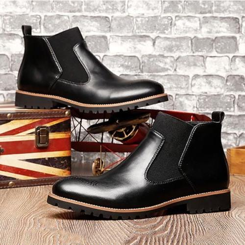 Men's Slip On Casual Martin Boot Outdoor Ankle Breathable Ox
