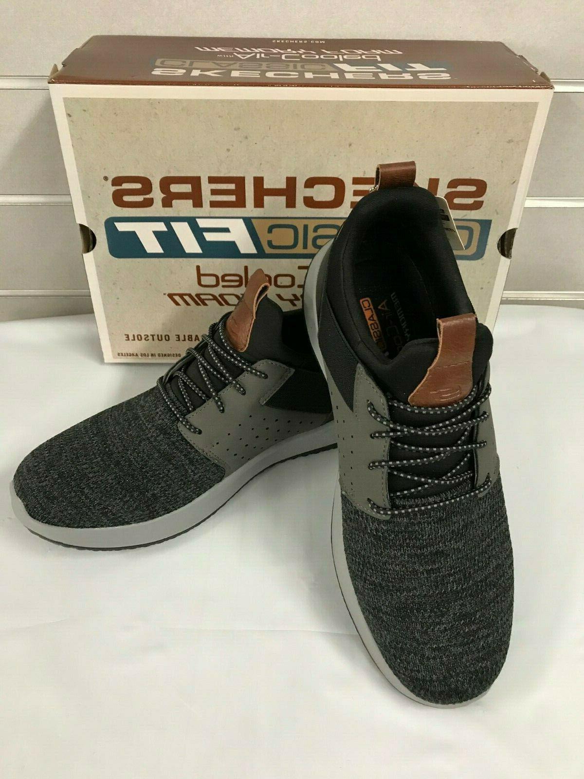 Skechers Men's Slip On Delson Shoes Black / NEW
