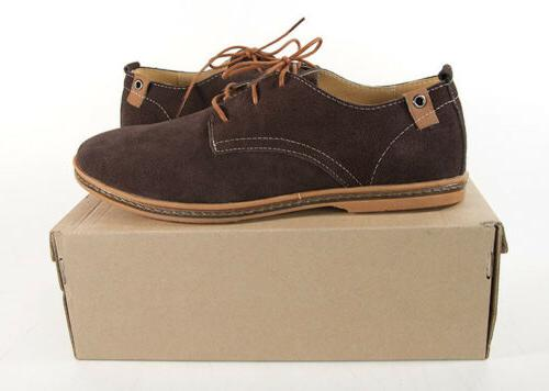 men s suede leather oxford wingtip lace