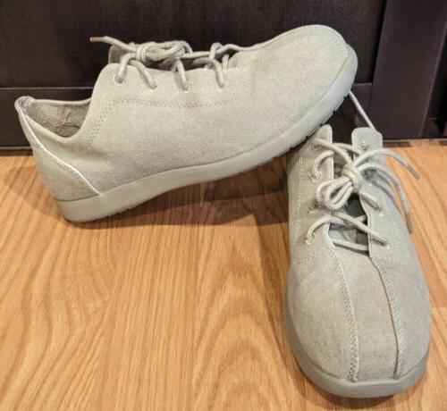 men s tan canvas lace up shoes