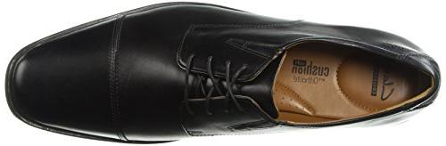 Clarks Oxford Shoe,Black Leather,10.5 M US