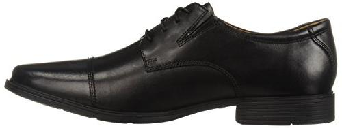 Clarks Tilden Cap Oxford Shoe,Black Leather,10.5 US