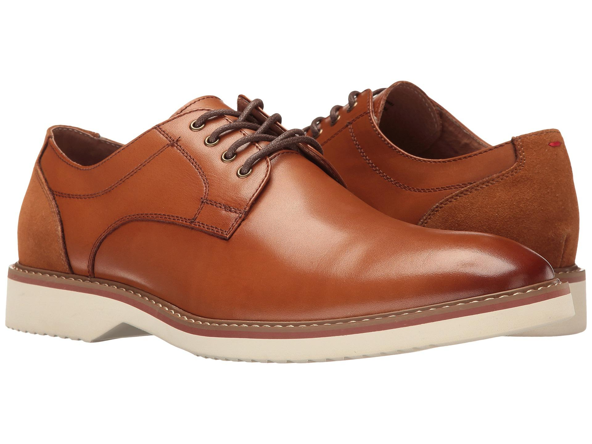 Florsheim Men's Union Plain Oxford Breathable Cognac leather