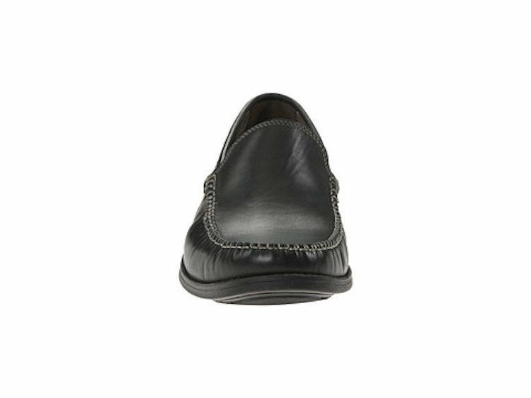 Men's Warren 06802 Slip-On Black Lea Oxford Shoes Size