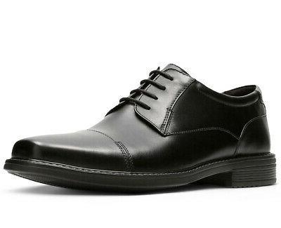 Bostonian Men's Wenham Cap Black Leather oxfords-shoes