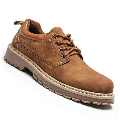 YJP Men's Warm Shoes Plush Work Boots