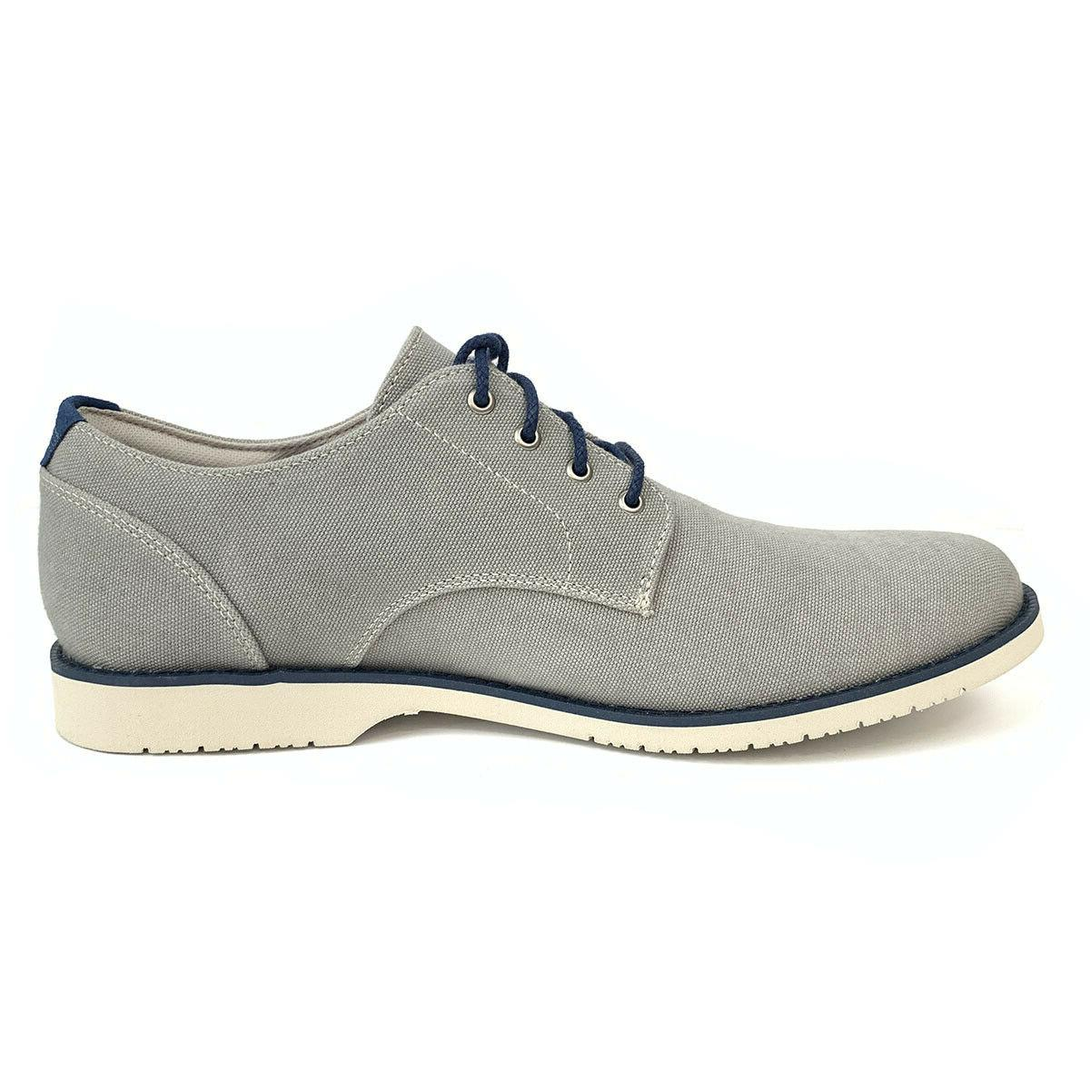 Timberland Woodhull Light Grey Canvas Oxford Shoes A1XSB