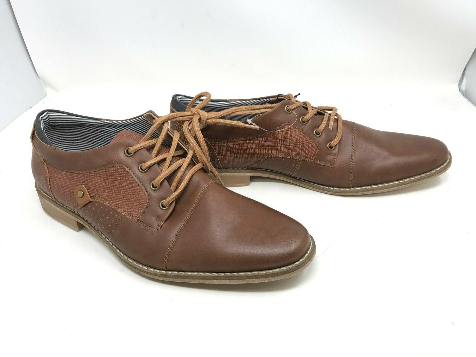 mens 200153 garfield brown cap toe oxford