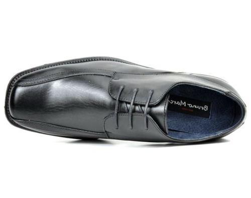 BRUNO YORK Mens Black Square Toe Shoes