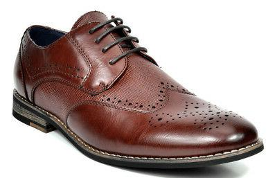 mens brogues shoes business dress casual leather