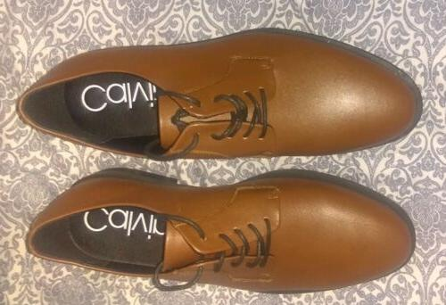 Calvin Tan Leather Oxford Up