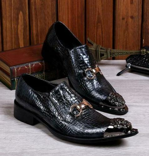 Mens Toe Wedding Dress Formal Loafers