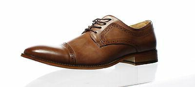 Unlisted by Kenneth Cole Mens Cheer Lace Up Cognac Oxford Dr