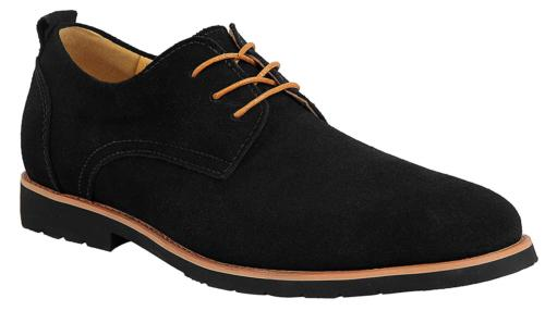 iLoveSIA Men's Leather Suede Oxfords Shoe US Size 11.5 Black