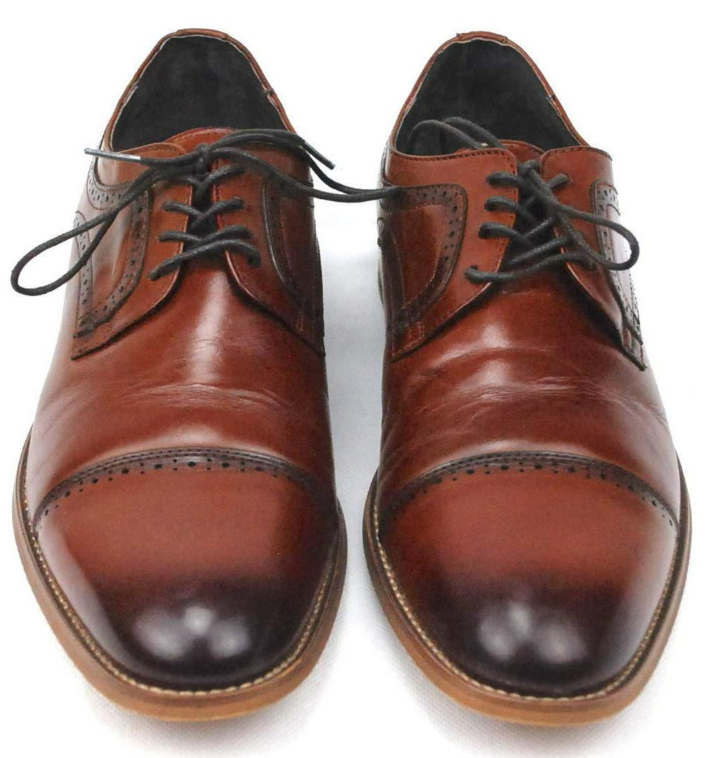 Stacy Adams Oxford Cognac Leather Shoes 25066