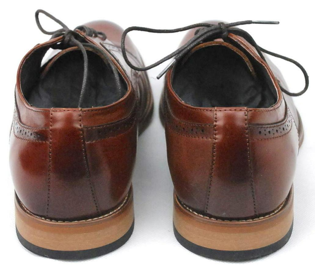 Stacy Mens Oxford Cognac Shoes