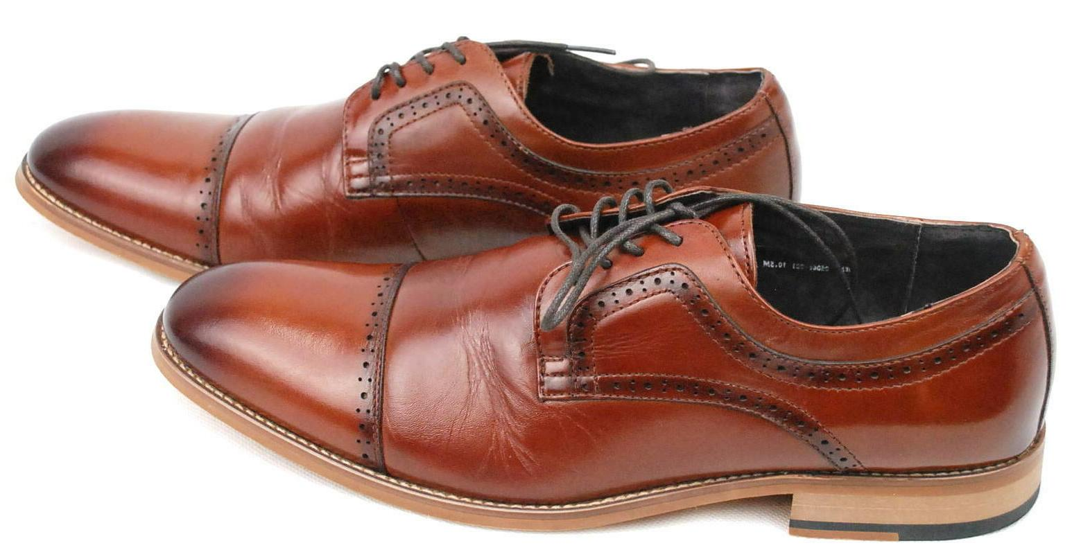 mens dickinson oxford cognac leather dress shoes