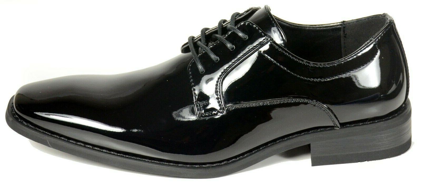 Men's wedding, tuxedo black patent leather formal dress shoe
