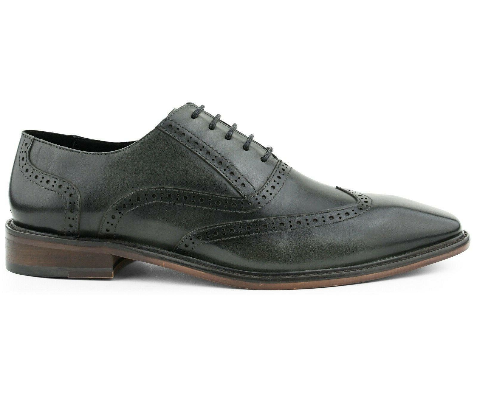 Mens Dress Wingtip Leather for Men Oxfords