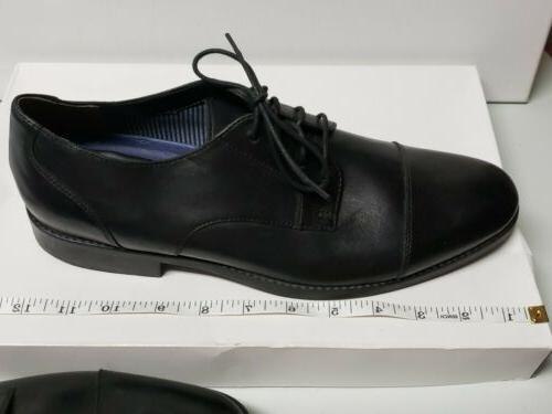 Bostonian Dress Leather Cap Size 9 M Black oxford