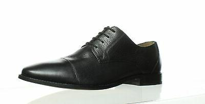 Florsheim Mens Finley Black Tumbled Oxford Dress Shoe Size 1