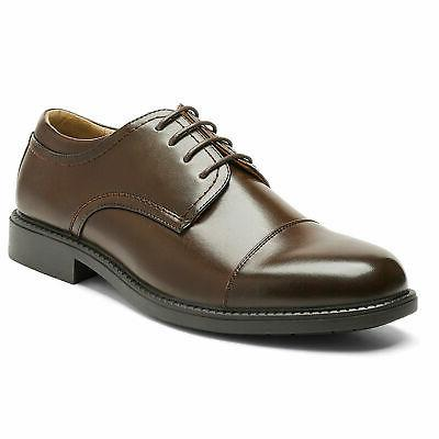 Bruno Mens Oxford Shoes Classic Lace Leather Business Shoes