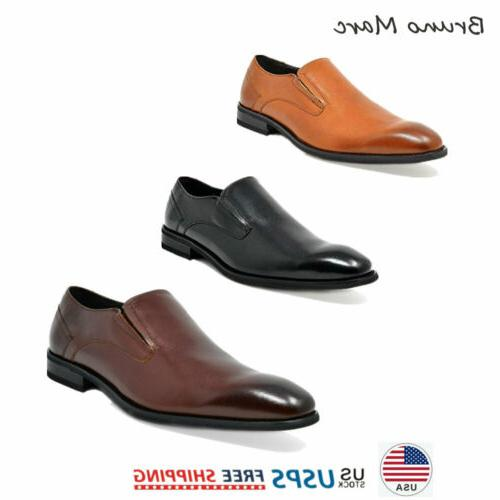 mens genuine leather oxford shoes slip on