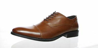 Unlisted by Kenneth Cole Mens Half Time Cognac Oxford Dress