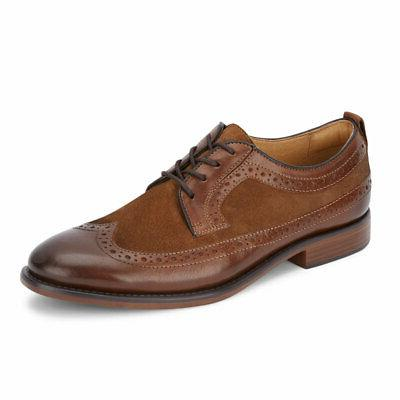 mens hausman genuine leather business dress wingtip